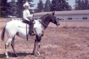True Velvet as a 3 yr. old & Daarla at 9 yrs. old. Both at first county fair with countless shows and ribbons to follow!